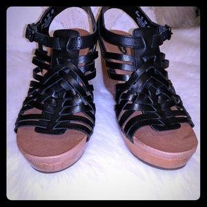 Dr. Scholls black high heel sandals
